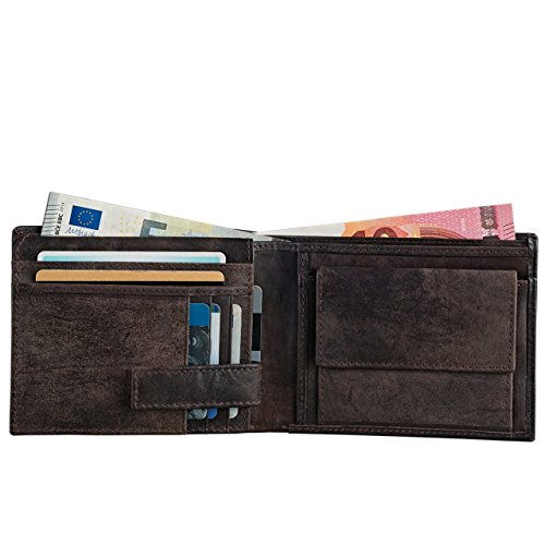 bc424a08b5 STILORD 'Chester' Portafoglio uomo vintage in pelle Elegante portafogli per  Carta d'identità con portamonete ...