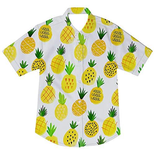 AIDEAONE Niños Camisa Hawaiana Manga Corta