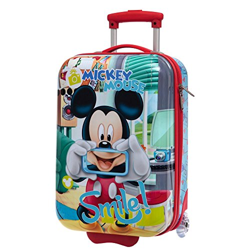 Disney Mickey Smile Bagage Cabine, 55 cm, 40.70 L, Bleu
