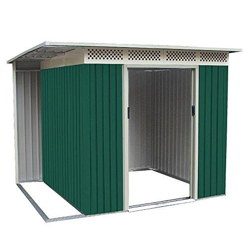 Box Casetta giardino per esterno in lamiera zincata 257x200xh187cm CHESTER B