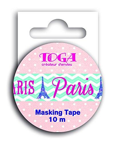 Unbekannt Toga MT34Kreppband Paris Washi Tape Farbe 5,5x 7x 1,5cm