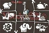 Ybody Glitzertattoos Glitzer Tattoo Schablonen Set Süße Tierwelt