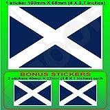 TENERIFFA INSEL Flagge, Fahne KANARISCHE INSELN Spanien, Islas Canarias Spanisch 100mm Auto & Motorrad Aufkleber, Vinyl Sticker x1+2 BONUS