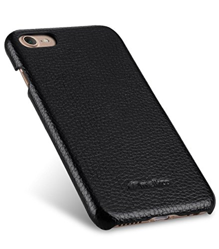 Apple Iphone 7 Melkco Jacka Type Premium Leather Case with Premium Leather Hand Crafted Good Protection,Premium Feel-Red LC Black LC