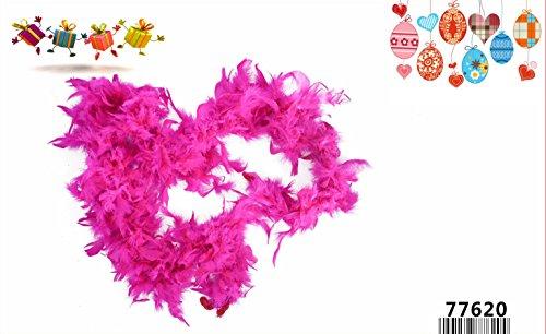 LinQ® Federboa Boa - Sciarpa in Piuma per Feste e Carnevale, 1,8 m, 45 g, Colori Assortiti