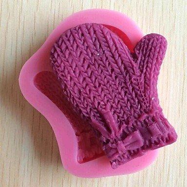HuaJing guanti di natale torta del fondente strumenti di decorazione del cioccolato del silicone della muffa della torta, l9cm * w9cm * h1.5cm