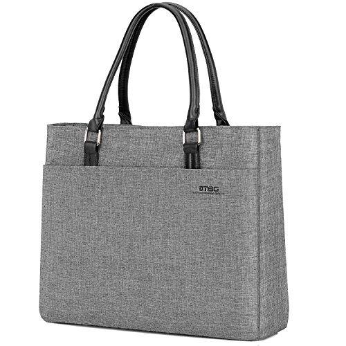 DTBG Laptop Tote Bag 15.6 inch Women Shoulder Bag Nylon Briefcase Casual Handbag Laptop Case for 15-15.9 inch Tablet/Ultra-Book/MacBook/Chromebook (grey) -