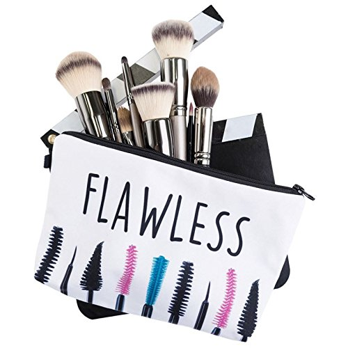 Kukubird Divertimento Nuovo Animale Foto Modello Stampa Make-up Bag Con Sacchetto Di Polvere Di Kukubird Flawless Eyebrush