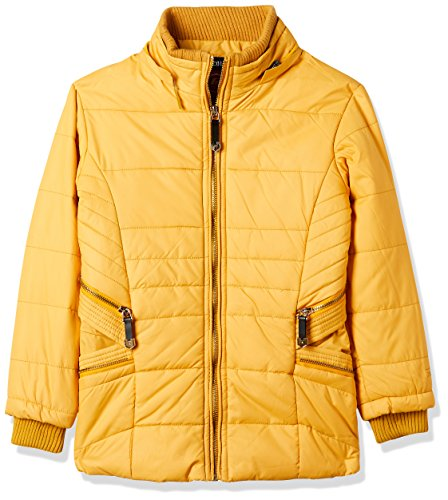 Fort Collins Girls' Regular Fit Synthetic Jacket (10252_Mustard_28 (8 - 9 years))