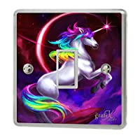 the grafix studio Bright Pretty Unicorn Light Switch Sticker Vinyl/Skin cover, sw148