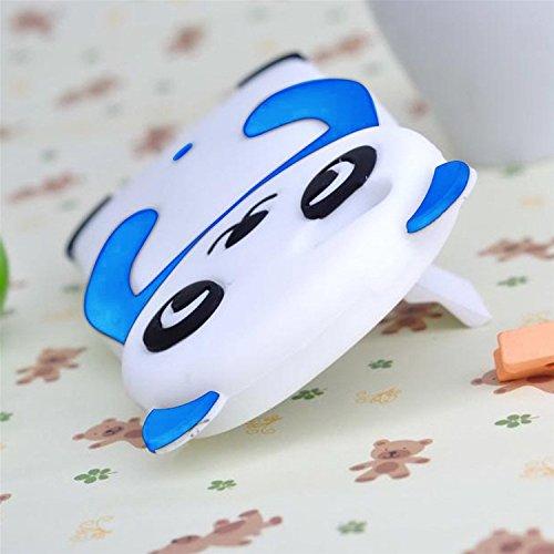 3D Mignon Panda Coque pour iPhone SE/5S/5 étui de Protection Housse,MingKun iPhone SE/5S/5 Case Cover TPU Silicone Coque Haute qualitie Silicone Confortable Doux au Animé Animal Style Couverture Hull- Panda-Sky Bleu