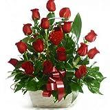 Florclick - Cesta de 18 rosas rojas - Envío GRATIS en 24h de lunes a sábado