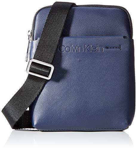 Calvin Klein Flex Mini Flat Crossover - Borse a spalla Uomo, Blu (Navy), 1x1x1 cm (W x H L)