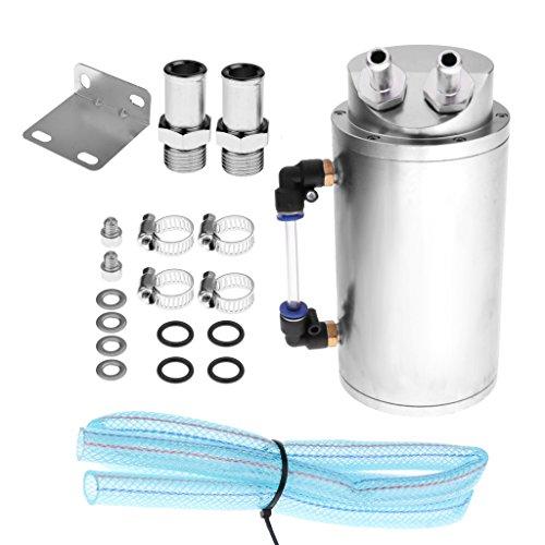 kit r/éservoir turbo rond KKmoon R/écup/érateur dhuile universel en aluminium pour voiture de course