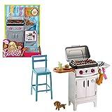 Mattel Grill Set & Zubehör | Barbie DVX48 | Outdoor Garten-Möbel