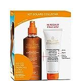 Collistar Kit Solare-Olio Secco Super Abbronzante senza filtro 200 ml + in REGALO balsamo doposole idratante restitutivo 100 ml