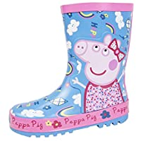 Girls Peppa Pig Rubber Wellingtons Snow Boots Peppa Rainbows 10