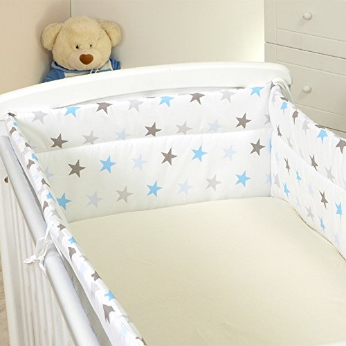 Nestchen mit Kopfschutz für 140x70 Bett 420x30cm M33 Bettumrandung Kantenschutz Baby Bett Schutz