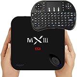 MXIII-G Smart TV Box Android 5.1 Amlogic S812 Quad Core CPU Octa core ARM Mali-450 GPU UHD 4K*2K HEVC H.265 1080P Miracast/DLNA 2GB 16GB Bluetooth 4.0 Media Player with I8 Mini Keyboard