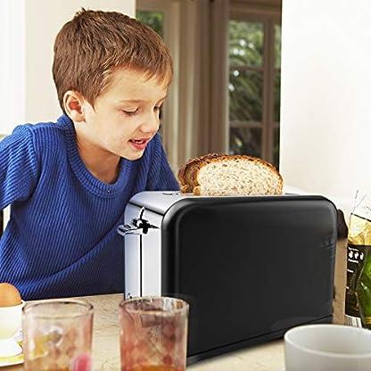 morpilot-Toaster2-Scheiben-Toaster-mit-6-Brunungsstufen-und-Auftaufunktion-AufwrmfunktionToaster-Edelstahl-mit-Extra-Breite-ToastschlitzeHerausnehmbarer-Krmelschublade815WSchwarz