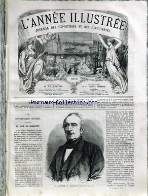 ANNEE ILLUSTREE (L') [No 1] du 17/12/1869 - M. ALPHONSE DE LAMARTINE - DESSIN DE ROUSSEAU - GRAVURES TIREES DES ARTS AU MOYEN AGE ET A L'EPOQUE DE LA RENAISSANCE PAR PAUL LACROIX.