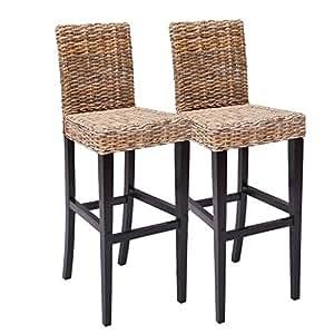 2x barhocker barstuhl m80 rattan kubu braune f e. Black Bedroom Furniture Sets. Home Design Ideas