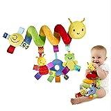 TININNA suspendu jouets pour bébé Enfants Jouets suspendus activité spirale lit poussette jouet peluche jouet de Kids enfants filles éducatif avec cloche de sonnette Clinquant