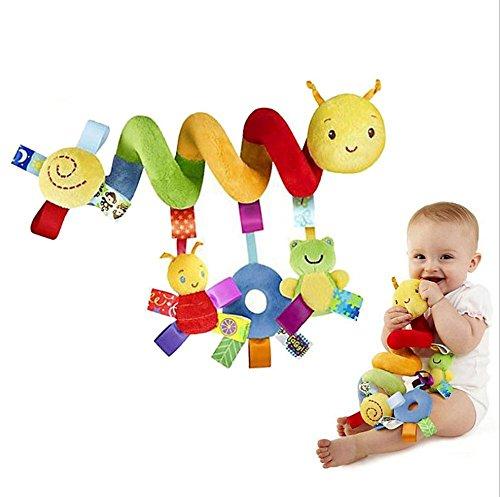 TININNA hängen Spielzeug für Baby Kinder, Spielzeug Charms Aktivität Spirale Bett Kinderwagen Spielzeug Plüsch Spielzeug Kids Kinder Mädchen bildend mit Glocke Klingel Vistoso