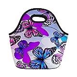 nopersonality Schmetterlinge wiederverwendbar Isolierte Lunch Tasche für Frauen Mädchen, Butterflies -7, M