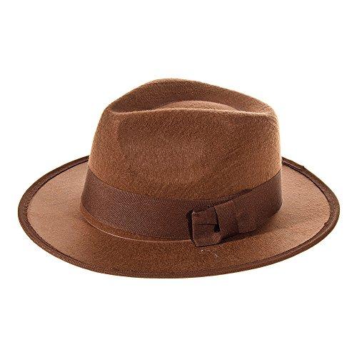 Explorer Hut Kostüm (Braun) (Erwachsene Für Indiana Jones Kostüm)