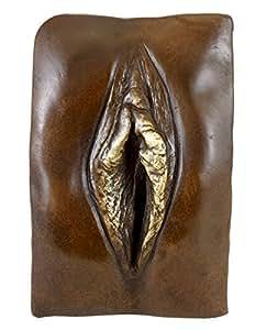 Art moderne en Bronze/Vulva-Vagin-Sign. de M. Noël