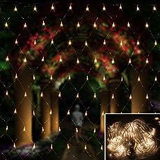 HJ®300 LEDs 4.5*1.6 m Lichternetz Mit Steuerbox Wasserdicht IP44 Weihnachtslichterkette Sternen Bunt Lichterkette für Weihnachten Party Hochzeit außen innen Zimmer Konzerte