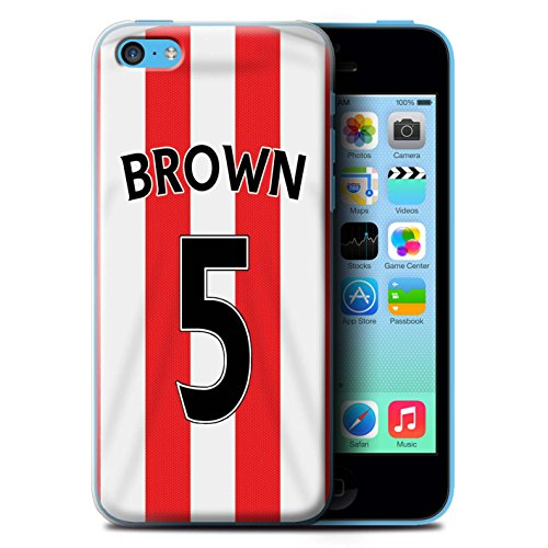 Offiziell Sunderland AFC Hülle / Case für Apple iPhone 5C / Fußballer Muster / SAFC Trikot Home 15/16 Kollektion Brown