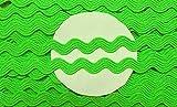 5 m Zackenlitze 9 mm neon grün