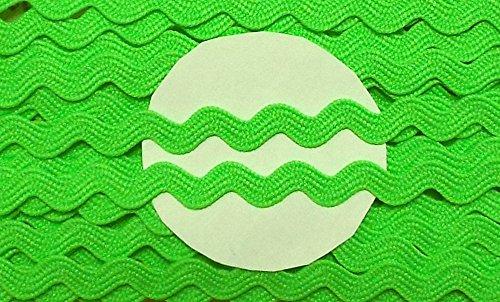 5 m Zackenlitze 9 mm neon grün Neon-grüner Reißverschluss