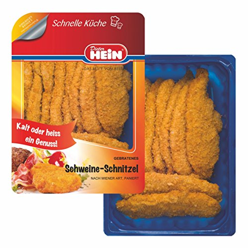 Schnitzel'Wiener Art' Schweineschnitzel tischfertig gebraten 10x 100g im Frischepack Das Original...