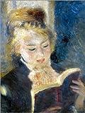 Alu Dibond 120 x 160 cm: Lesendes Mädchen von Pierre-Auguste Renoir