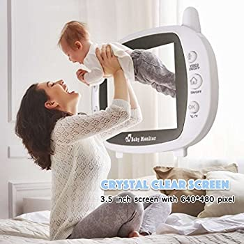 [2018 Upgraded]newest Video Baby Monitor - Etekstorm Monitor With 3.5''lcd Display,digital Camera,two Way Talk,night Vision,lullabies,temperature Monitoring,capacity Battery & Long Range. 6