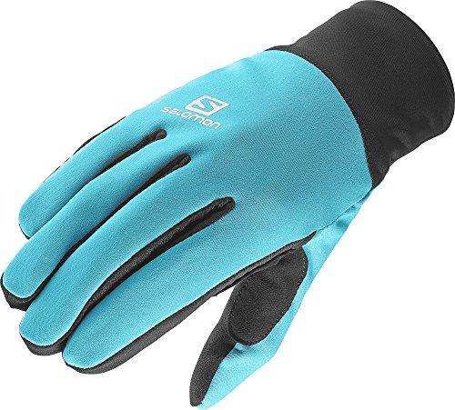 Salomon, Damen Langlauf-Handschuhe, Touchscreen geeignet, EQUIPE GLOVE W, Größe: M, Türkis/Schwarz (Blue Bird/Black), L39504900