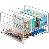 mDesign Organiseur de Cuisine à 4 Compartiments – Rangement Cuisine en Plastique pour boîtes de thé, Snacks, etc. – étagère d