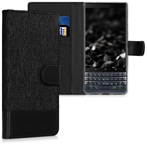 kwmobile BlackBerry KEYtwo LE (Key2 LE) Hülle - Kunstleder Wallet Case für BlackBerry KEYtwo LE (Key2 LE) mit Kartenfächern und Stand