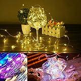 Lichterkette LED Drahtlichterkette Batterie-betrieben Silberdraht Wasserdicht lichterkette für Party Fest Beleuchtungdeko Weihnachtendeko Blumenkuchen-Dekorations laterne