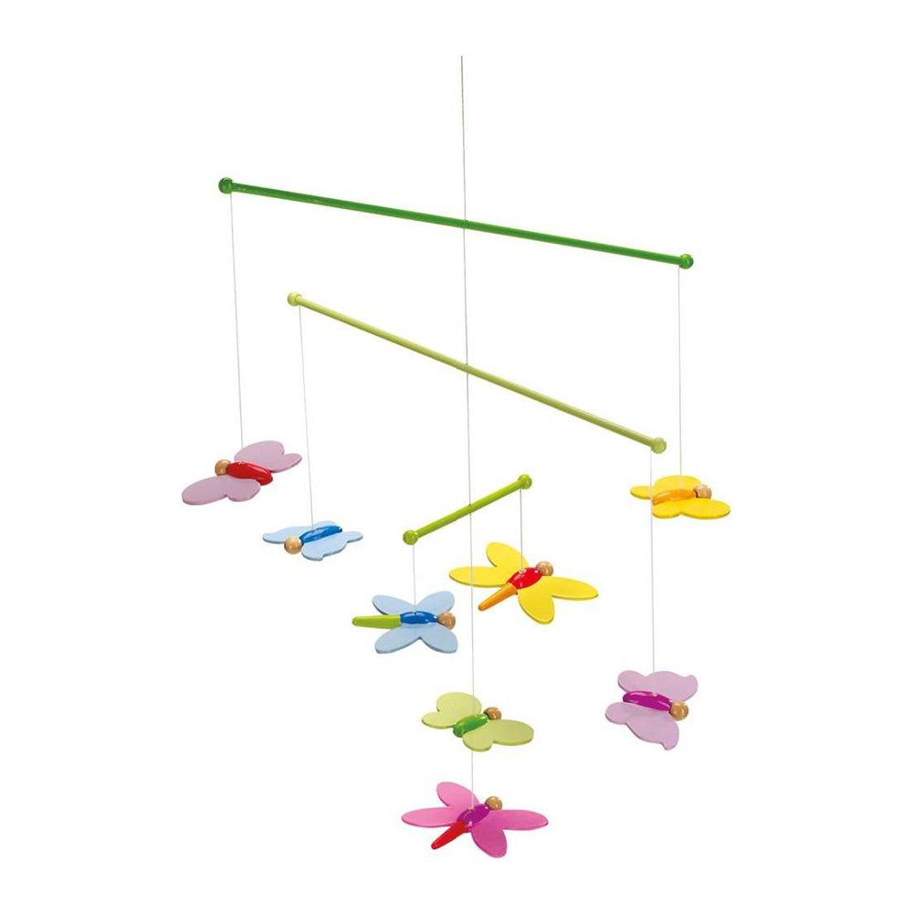 Mobile Schmetterlinge: 33 x 42 cm, Holz, 8 Teile: Amazon.de: Baby