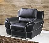 Voll-Leder Sofa 1-Sitzer Ledersofa Sessel Einsitzer Couch 4572-1-S
