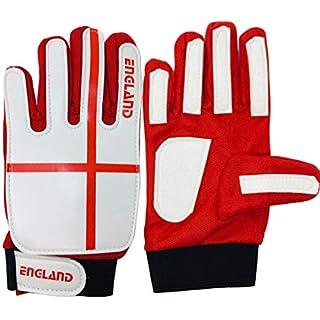 ARSUK® Goalkeeper Gloves, Junior Goalkeeper Gloves Stronge Grip for the Toughest Saves and Finger Protection (ENGLAND-Size:06)