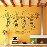 Rureng World Travel Photo Frame Wall Stickers Famosi Edifici Stickers Murali Per Soggiorno Family Decoration