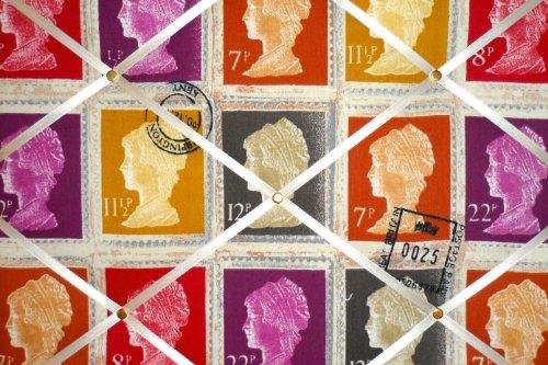Medium prestigiosi Mulberry prima classe timbro a mano Crafted tessuto avviso/Pin/Memo Board - Avviso Stamp