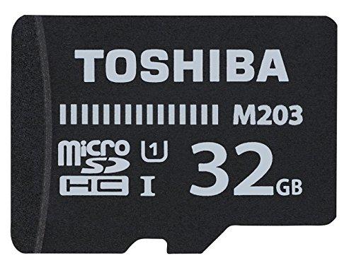 Toshiba m203 scheda di memoria microsdhc 32gb - 100mb/s - classe 10 - u1 + adattatore