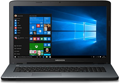 Medion Akoya P7637 MD 60487 43,94 cm (17,3 Zoll mattes Full HD Display) Notebook (Intel Core i3-5005U, 256GB SSD, 8GB RAM, Nvidia GeForce 930M, Win 10 Home) titan