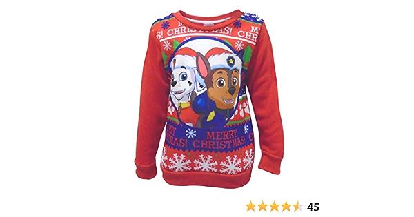 Paw Patrol Weihnachtspullover Rubble Geschenk Jungen Kinder Pullover Sweatshirt